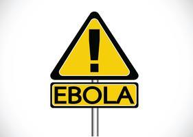 Ausrufezeichen warnt vor dem Ebola-Virus-Konzept vektor