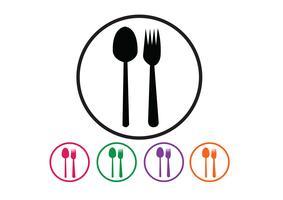Sked och gaffel vektor
