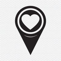 Kartenzeiger Herz-Symbol