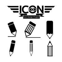 Bleistift-Symbol Symbol Zeichen vektor