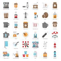 kaffes utrustning ikon