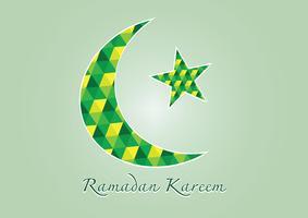 Ramadan Kareem Bunter Mond und Stern für den heiligen Monat der Muslime