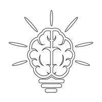 Gehirn Glühbirne-Symbol