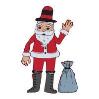 Santa Claus für die Weihnachtshand gezeichnet vektor