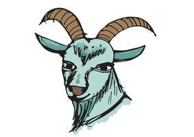 Ziege Cartoon Illustration