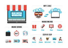 isolierte Online-Shop vektor