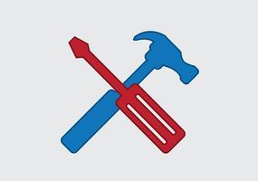 Werkzeug- und Hammer-Symbol
