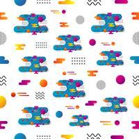 minimal sömlösa mönster vektor