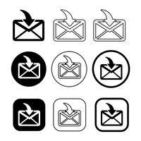 Satz von einfachen Zeichen E-Mail-Symbol Mail-Symbol vektor