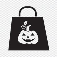 Halloween väska ikon vektor