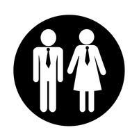 Mann und Frau People-Symbol