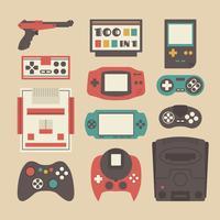 Retro-Spiel-Spieler festgelegt