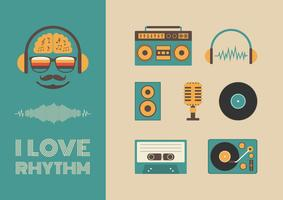 ljud och rytm vektor