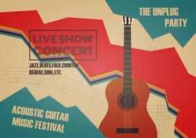 Poster zum Gitarrenwettbewerb vektor