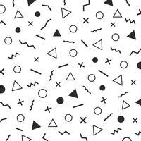 minimalistisk memphis designbakgrund vektor