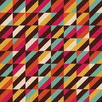 Retro quadratisches Muster vektor
