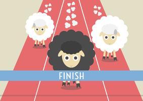 Wettbewerb der Schafe