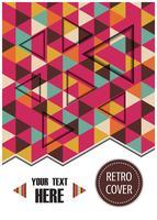 Farbstreifen-Cover-Design vektor