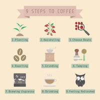 steg av kaffeprocessen