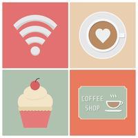 kafé ikon vektor