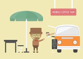 mobiler Kaffeewagen vektor