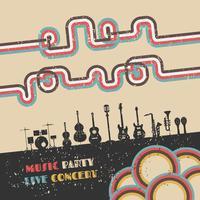 Musikfestival-Plakat vektor