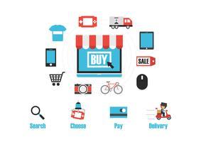 onlinebutik infographic vektor