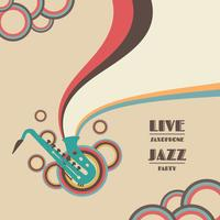 Saxophon Live-Show vektor