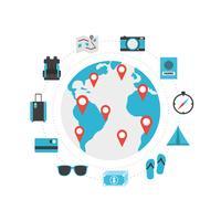 Weltreise-Symbol