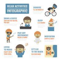 koppla av aktiviteter infographic vektor