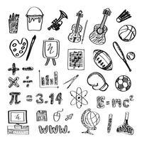 Schule Zeichnungssymbol vektor