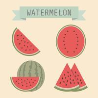 retro vattenmelon ikon vektor