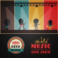rock konsert scen vektor