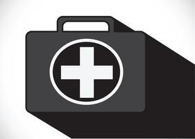 Erste-Hilfe-Kasten-Symbol vektor