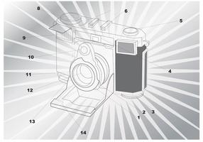 Kamerahandbokvektor vektor