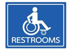 Toaletter för design av ikoner för rullstolshandikapp
