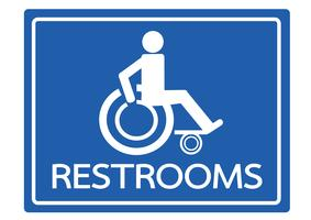 Toiletten für Rollstuhl-Handikap-Ikonendesign vektor