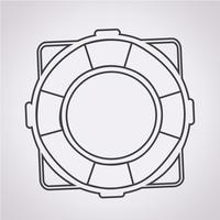 Rettungsring Symbol Symbol Zeichen vektor