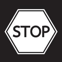 stoppa teckensymbolen