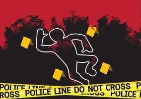 Illustration för fara för brottsplatsfara