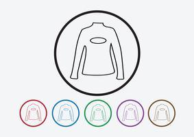 Kleiderhemd und T-Shirt-Ikone Kleidungsikonen