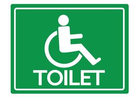 Toalett toaletter för rullstol handikapp ikon design