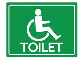 Toiletten-Toiletten für Rollstuhl-Handikap-Ikonendesign vektor