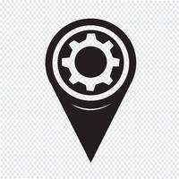 Karta Pointer Gear Icon