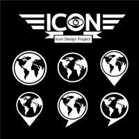 Globe ikon symbol tecken