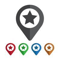 Map Pointer Star-ikonen vektor