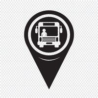 Kartenzeiger-Bus-Symbol vektor