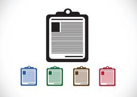 Zwischenablage Nachrichten Patienteninformationen vektor