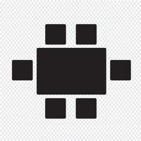 Draufsicht Dinning Furniture Icon vektor