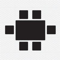ovanifrån matställen ikonen vektor